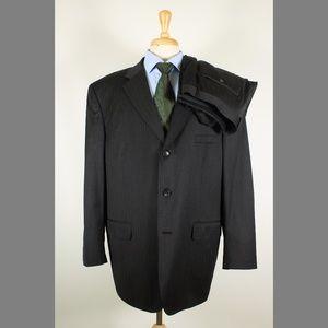 Pronto Uomo 48L 42x33 Pleat Gray Suit 97-5
